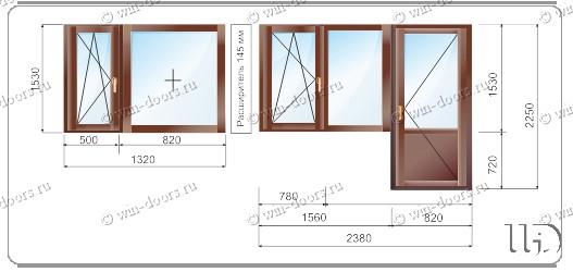 П3 16 размеры окон и балконов.