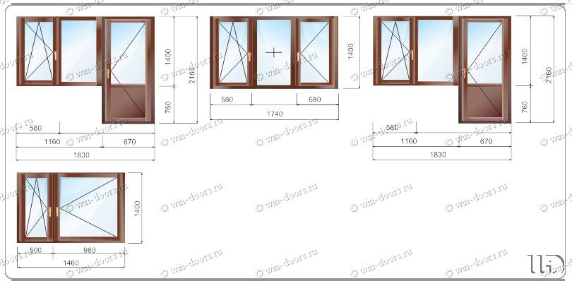 Деревянные окна для типовых квартир в домах серии п-43..