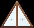 Глухое треугольное окно с импостом.