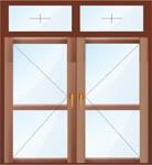 Штульповая балконная дверь с глухой фрамугой.
