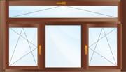 Трехстворчатое окно с фрамугой.