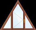 Треугольное окно с одной поворотной створкой.