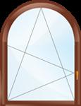 Одностворчатое арочное поворотно-откидное окно.