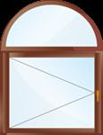 Арочное окно с глухой фрамугой.