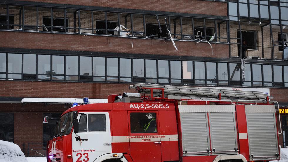взрыв прогремел в новостройке на улице Репищева в доме № 10 в Коломягах в Санкт-Петербурге