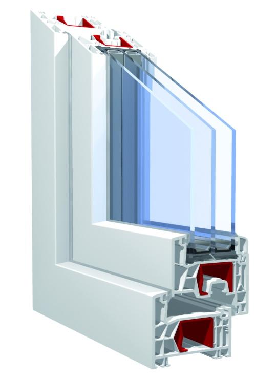 Пластиковые окна KBE 76 mm